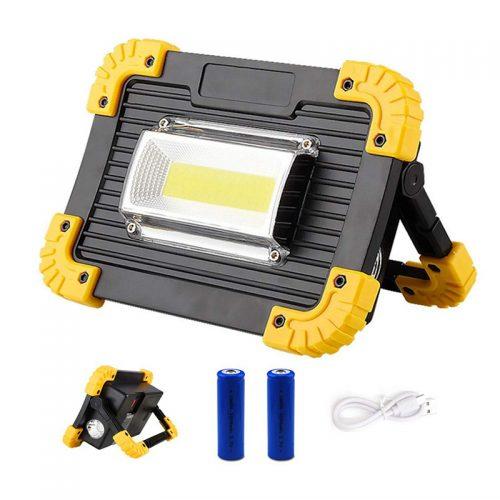 Επαναφορτιζόμενος φακός φορητός προβολέας LED.