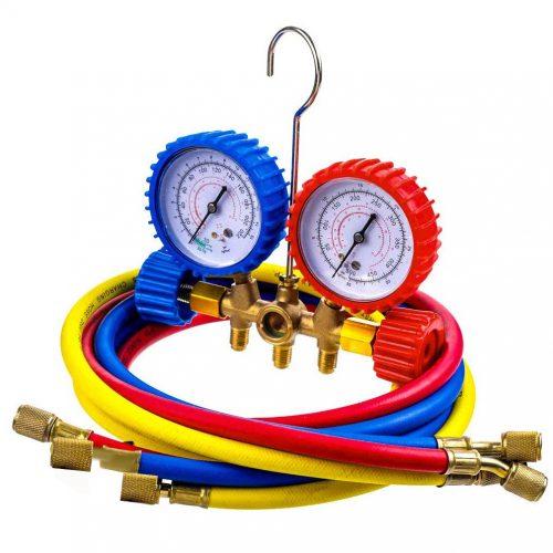 Εργαλείο ελέγχου πίεσης κλιματιστικών με μανόμετρο.