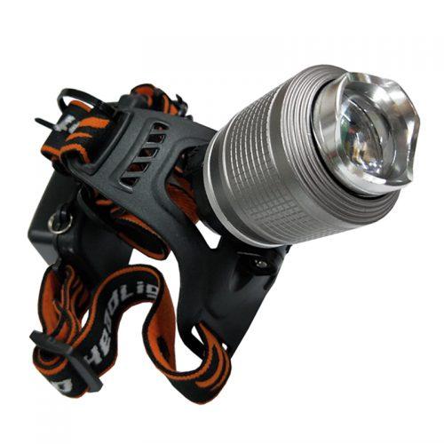 Επαναφορτιζόμενος φακός κεφαλής υψηλής φωτεινότητας DUAL LIGHT γκρι.