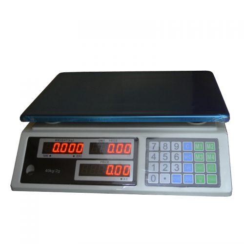 Ψηφιακή ζυγαριά πάγκου έως 40 Kg.