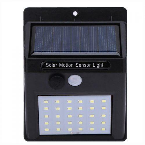 Ηλιακό φωτιστικό με 30 LED & ανιχνευτή κίνησης.