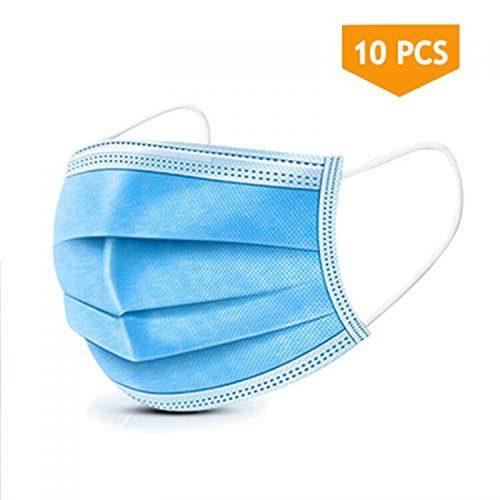 Μάσκες προστασίας προσώπου μίας χρήσεως 3ply 10 τεμαχίων.
