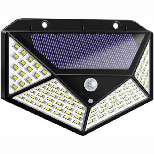 Ηλιακό φωτιστικό τοίχου με ανιχνευτή κίνησης 100 LED.