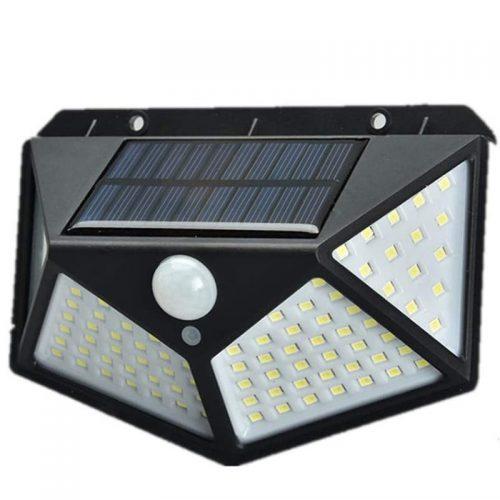 Ηλιακό φωτιστικό τοίχου με ανιχνευτή κίνησης 114 LED.