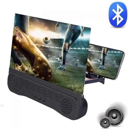 Πτυσσόμενη Βάση 3D για Μεγέθυνση Οθόνης & Ηχείο Bluetooth.